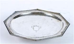 SIMPSON HALL & MILLER STERLING SILVER FOOTED PLATE
