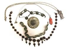GROUPING OF MEXICAN and VICTORIAN JEWELRY