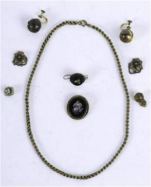 GROUPING OF 14k & 18k GOLD VICTORIAN JEWELRY