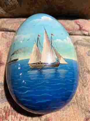 HAND PAINTED WOOD EGG