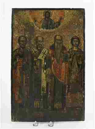 """EARLY ORTHODOX ICON """"ASCENSION OF CHRIST"""""""