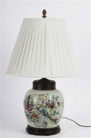 ASIAN GINGER JAR CONVERTED into a TABLE LAMP