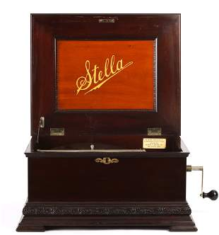 STELLA TABLE-TOP DISK MUSIC BOX c1897