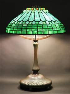 RARE TIFFANY STUDIOS NEW YORK BRONZE TABLE LAMP