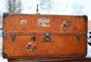 "LOUIS VUITTON ""VUITTONITE"" STEAMER TRUNK"