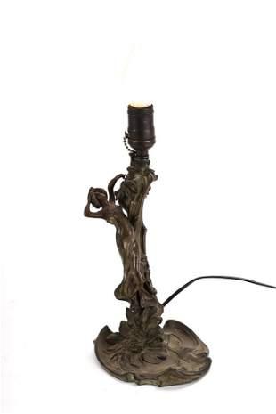 FIGURAL ART NOUVEAU TABLE LAMP