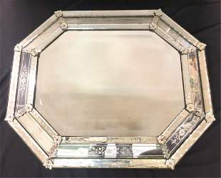 OCTAGONAL VENETIAN GLASS BEVELED MIRROR
