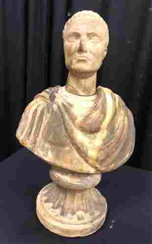 EARLY MARBLE BUST OF A ROMAN