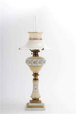 AESTHETIC MOVEMENT KEROSENE TABLE LAMP