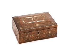 INDIAN / PERSIAN MIXED METAL INLAY JEWERLY BOX