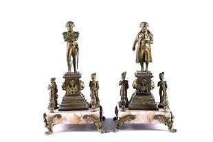 PAIR OF BRONZE STATUETTES OF NAPOLEON BONAPARTE