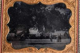 HALF PLATE AMBROTYPE of CALIFORNIA RANCH