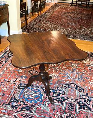NORTH SHORE QUEEN ANNE MAHOGANY BREAKFAST TABLE