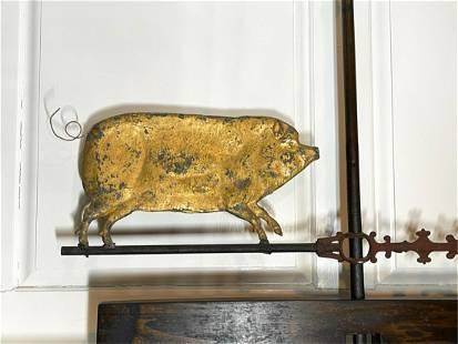 VICTORIAN PIG WEATHERVANE
