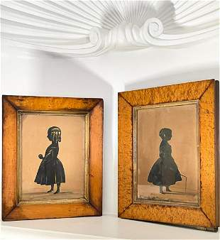 TWO HUBBARD GALLERY SILHOUETTES CHILDREN