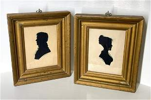 PAIR OF AUGUSTUS DAY SILHOUETTES