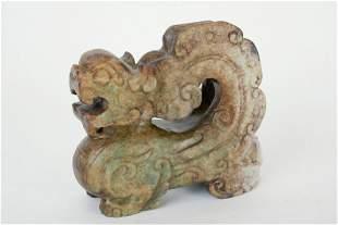 CARVED CHINESE HARDSTONE FOO DOG