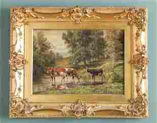 THOMAS BIGELOW CRAIG (AMERICAN 1849-1924) OIL PAST