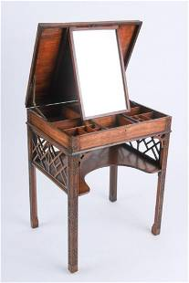 GEORGE III CHINESE CHIPPENDALE DRESSING TABLE