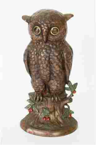 HUBLEY CAST IRON OWL DOORSTOP