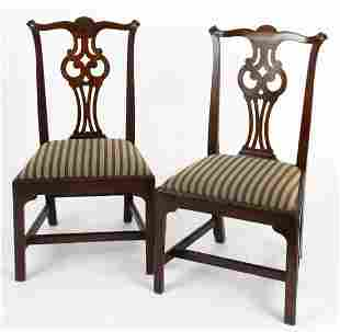 PAIR OF MASSACHUSETTS CHIPPENDALE SIDE CHAIRS