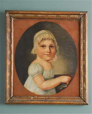 EUROPEAN PORTRAIT OF A YOUNG GIRL