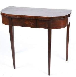 FEDERAL PERIOD MAHOGANY CARD TABLE
