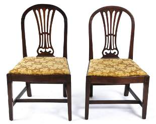 PAIR OF FEDERAL PERIOD MAHOGANY SIDE CHAIRS