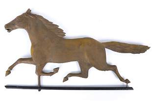 (19th c) RUNNING HORSE WEATHER VANE