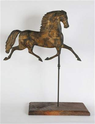 (19th c) RUNNING HORSE WEATHERVANE