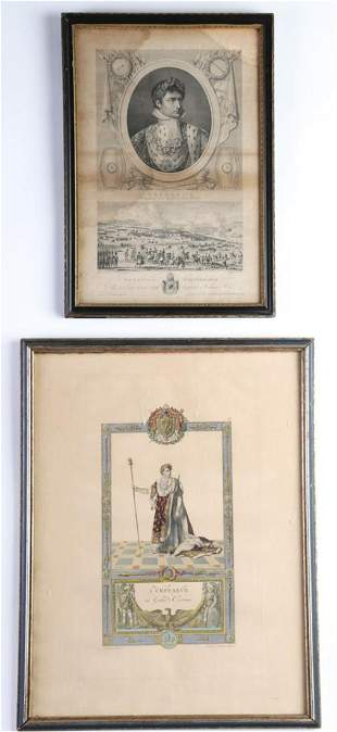 TWO (19th c) ENGRAVINGS OF NAPOLEON BONAPARTE