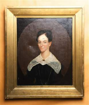 AMERICAN SCHOOL PORTRAIT of a YOUNG WOMAN c1830