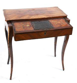 LOUIS XV MARQUETRY INLAY DRESSING TABLE