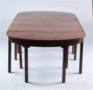 CHIPPENDALE MAHOGANY 3 PART BANQUET TABLE