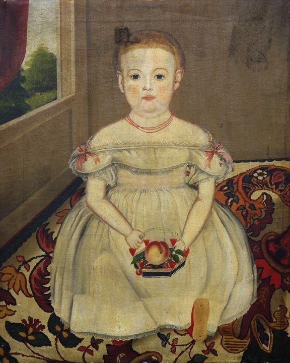 1: American School (19th Century) Portrait of Henrietta