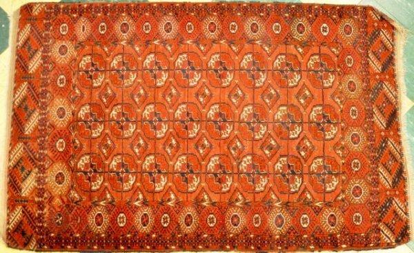 2: Antique Bakara oriental scatter rug
