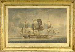 32 Early 19th century hand colored lithograph of two f