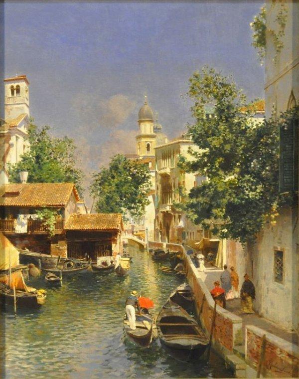 "100: Rubens Santoro, Italian (1859-1942) ""Venice"", sign"