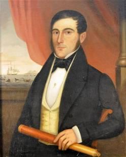 "145: American School (19th century) ""Captain John P. Ri"