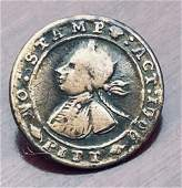 1766 WILLIAM PITT NO STAMP TAX BUTTON