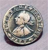 1766 WILLIAM PITT NO STAMP TAX BUTTON