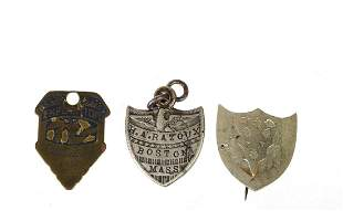 (3) SHIELD-FORM PIN, LUGGAGE TAG and FOB