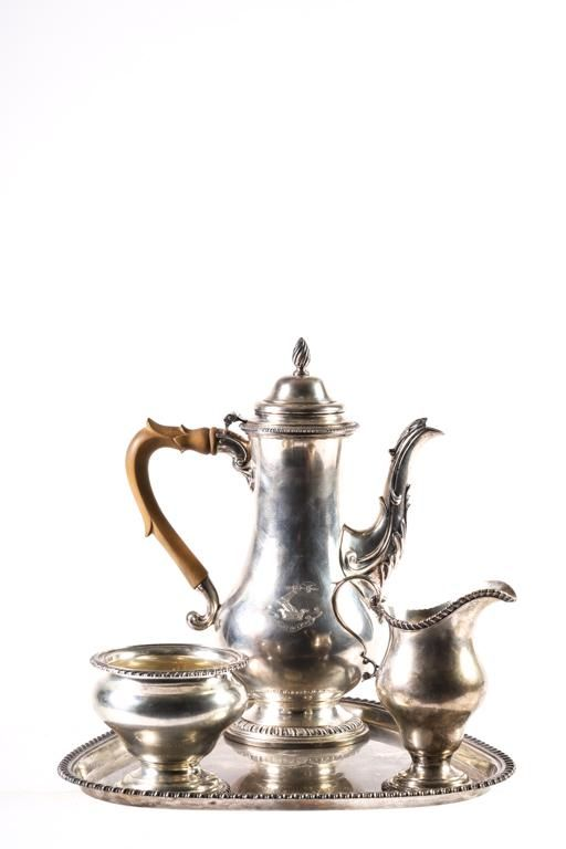 "(4) PIECE STERLING SILVER ""PAUL REVERE"" TEA SET"