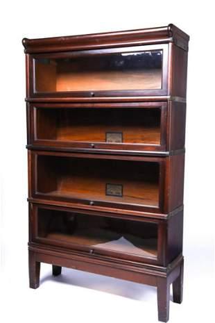 GLOBE WERNICKE WALNUT SECTIONAL BOOKCASE