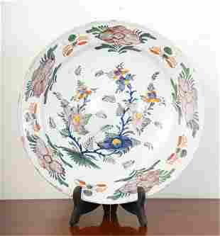 LARGE TIN GLAZED FAIENCE CHARGER