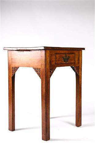CHIPPENDALE MAHOGANY (1) DRAWER STA ND