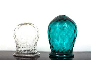 (2) HAND BLOWN CUPPING GLASSES / VOTIVE GLASSES
