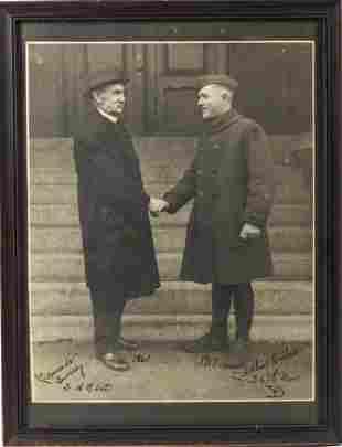 PHOTOGRAPH of 1861 CIVIL WAR VET & O'SHEA 1917