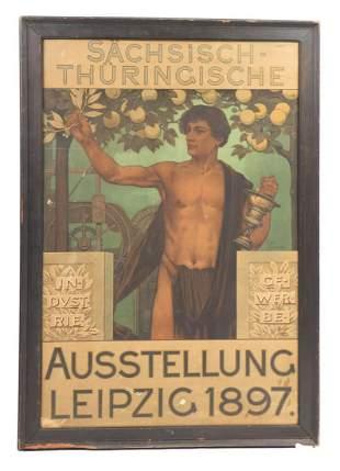 GERMAN INDUSTRIAL EXHIBITION POSTER 1897