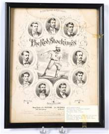 1869 THE CINCINNATI RED STOCKINGS SHEET MUSIC
